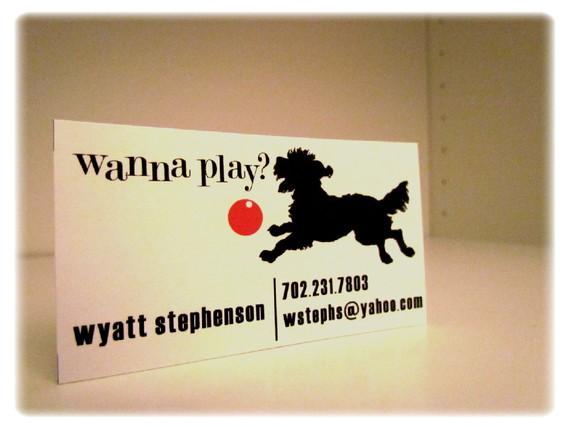 Dog calling card